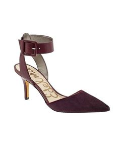 Okala Burgundy Kitten Heel by Sam Edelman.  Pretty shoe, love the color.