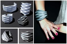 DIY Origami Paper Cuff with Template