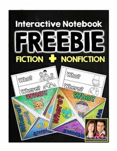 FREEBIE ALERT! Interactive notebook freebie for comprehension of fiction & nonfiction texts.