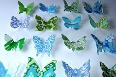 fabric starched butterflies!  So cute!