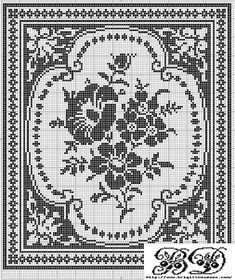 Free cross stitch pattern - this will look great in so many monochromatic schemes, like white on gray.