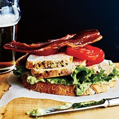 Open-Faced Chicken Club Sandwiches | CookingLight.com #myplate #protein #vegetables