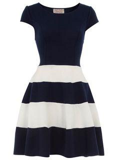 Dorothy Perkins  Navy skater dress