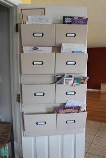Need this for the back of bedroom closet door- to organize bills/receipts
