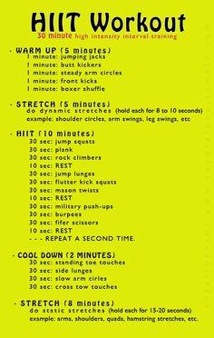 hiit training workout plan