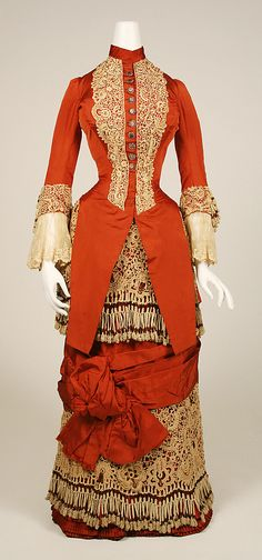 1880 Orange Dress  Date: ca. 1880