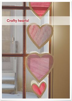 Get festive this Valentine's Day with this heart mobile craft for kids!