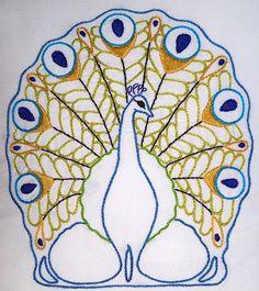 peacock felt, peacock beauti