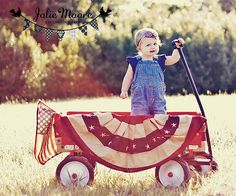 4th of July idea... I need a red wagon! Does it get any more adorable than this?