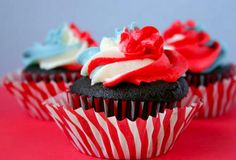 Perfect July 4th cupcakes