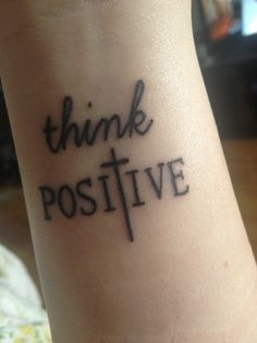 Think positive :)