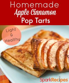 This is the best Pop Tart makeover ever!! Love the REAL ingredients in here for a healthier treat. Made for my kids as a back-to-school breakfast and they loved it! | via @SparkPeople #recipe #breakfast #tart #pie #pastry #apple