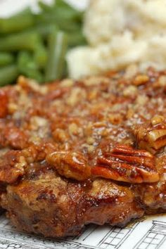 Honey Pecan Pork Chops