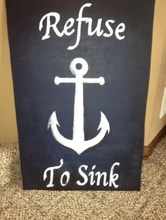 Anchor painting- bathroom in nautical