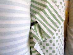 CHRIS STONE  Green and White Stripe