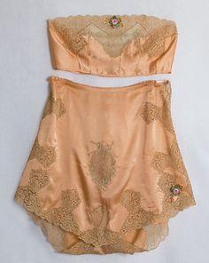 vintage lingerie, silk, hand sewn, inspiration, vintage lace, satin, vintage textiles, taps, vintage style
