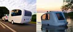 Half Camping Trailer / Half Lake Worthy Mini-boat. -www.sealander.de-