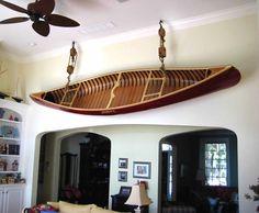 Wall mounted merrimack canoe