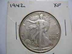1942 Walking Liberty Silver Half Dollar US Coin