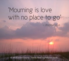 Mourning is love with no place to go.