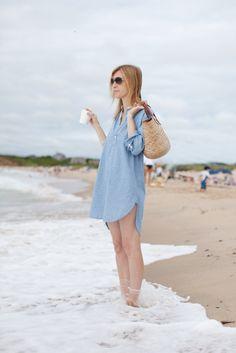 :O beaches, boyfriend style, coverup, dress, denim shirts, weekend style, sea, beach styles, school bags