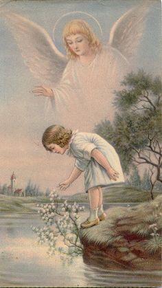 Guardian Angel Catholic Holy Card