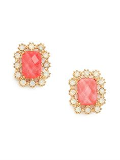 Coral Imperial Studs