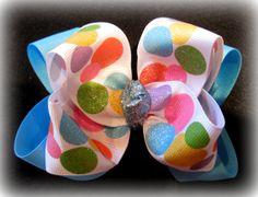 Sparkle Razzle Dazzle Dots Fabulous Double by MyBellaBellaBowtique, $5.99