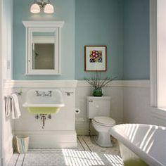 traditional bathroom, tile on floor, sink