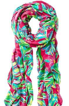 Lilly Pulitzer Lilian Oversized Scarf in Jungle Tumber- over 6 feet of fabric!