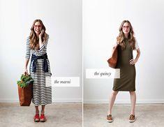 dress collection, strip dress