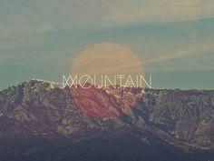 graphic, mountain, design