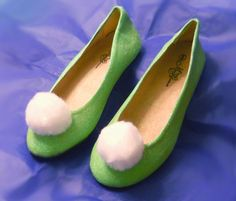 Tinkerbell inspired Fairy Glitter Shoes - made to order $55 in adult sizes