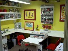 studio, thrifti chick, scrapbook crafts, scrapbooks, room layouts, man room, scrapbook rooms, craftroom idea, craft rooms