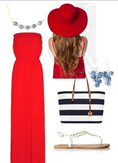 Go anywhere Maxi Dress | 4th of July outfit