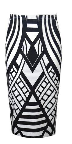 pattern pencil, pencil midi, midi skirt