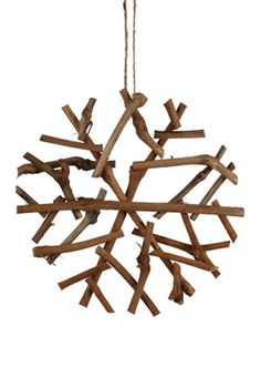 8in Twig Snowflake Ornament