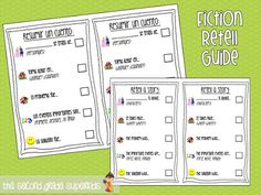 Fiction Story Summary Freebie- A guide to help students to organize their ideas for writing! (English/Spanish)