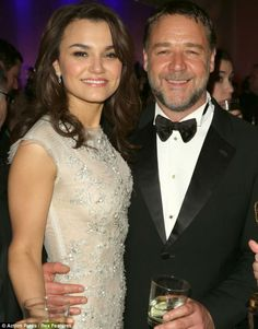 Samantha Barks with Russell Crowe at the Oscars