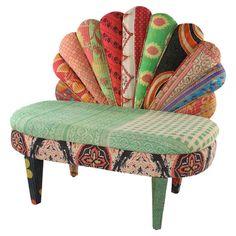 Peacock settee