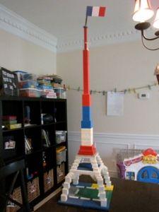 Build a lego Eiffel Tower