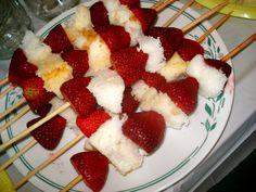 Strawberry shortcake kabobs!