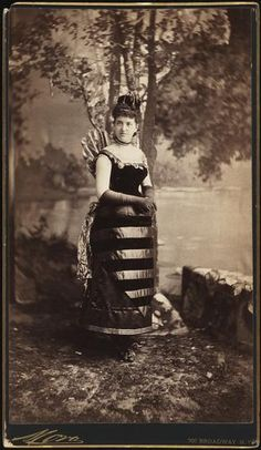 Mrs. William Seward Webb (neé Lila O. Vanderbilt) costumed as a bee for the elaborate ball hosted by her brother and sister-in-law, Mr. and Mrs. W. K. Vanderbilt, 26 March 1883. It was this ball that earned the entire Vanderbilt family a place on Mrs. Astor's 400 List of the New York's most socially elite.