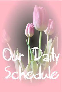 Homeschool, or stay-home preschool example of a daily schedule. #kids #schedule #homeschool
