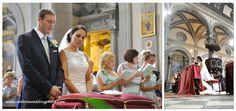 Pauline and Matthew's Villa Baroncino wedding. The beautiful Cathedral of Cortona. www.romanticitalianweddings.com