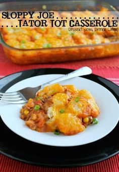 Sloppy Joe Tator Tot Casserole - Dessert Now, Dinner Later! easy beef dinner, food, cassarol, dinner recipes