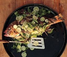 Whole Grilled Fish with Lime | Epicurious.com