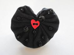 The Crow  The Black Heart Brooch by BusyHandsbyHKC on Etsy, $1.25