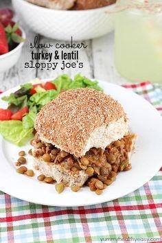 Slow Cooker Turkey & Lentil Sloppy Joe's