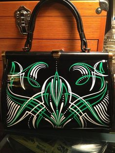 hot rod pinstriped purse